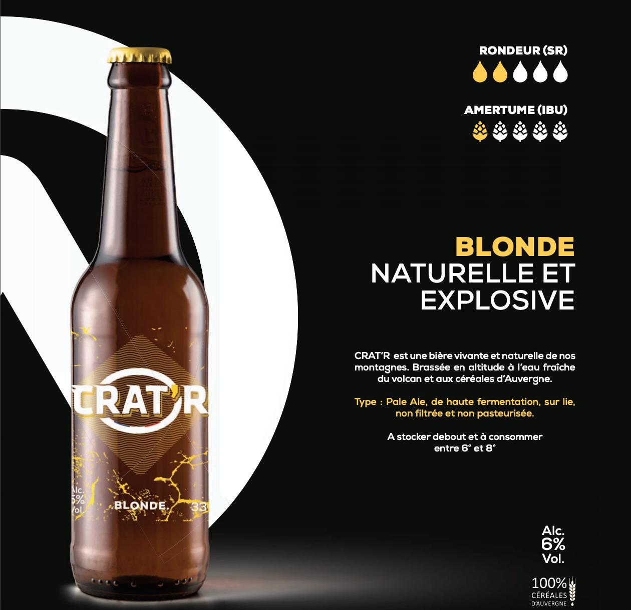 Crat'r blonde bio 33cl 1