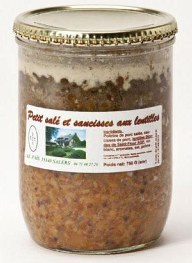 petit sale saucisses lentilles de st flour 750g