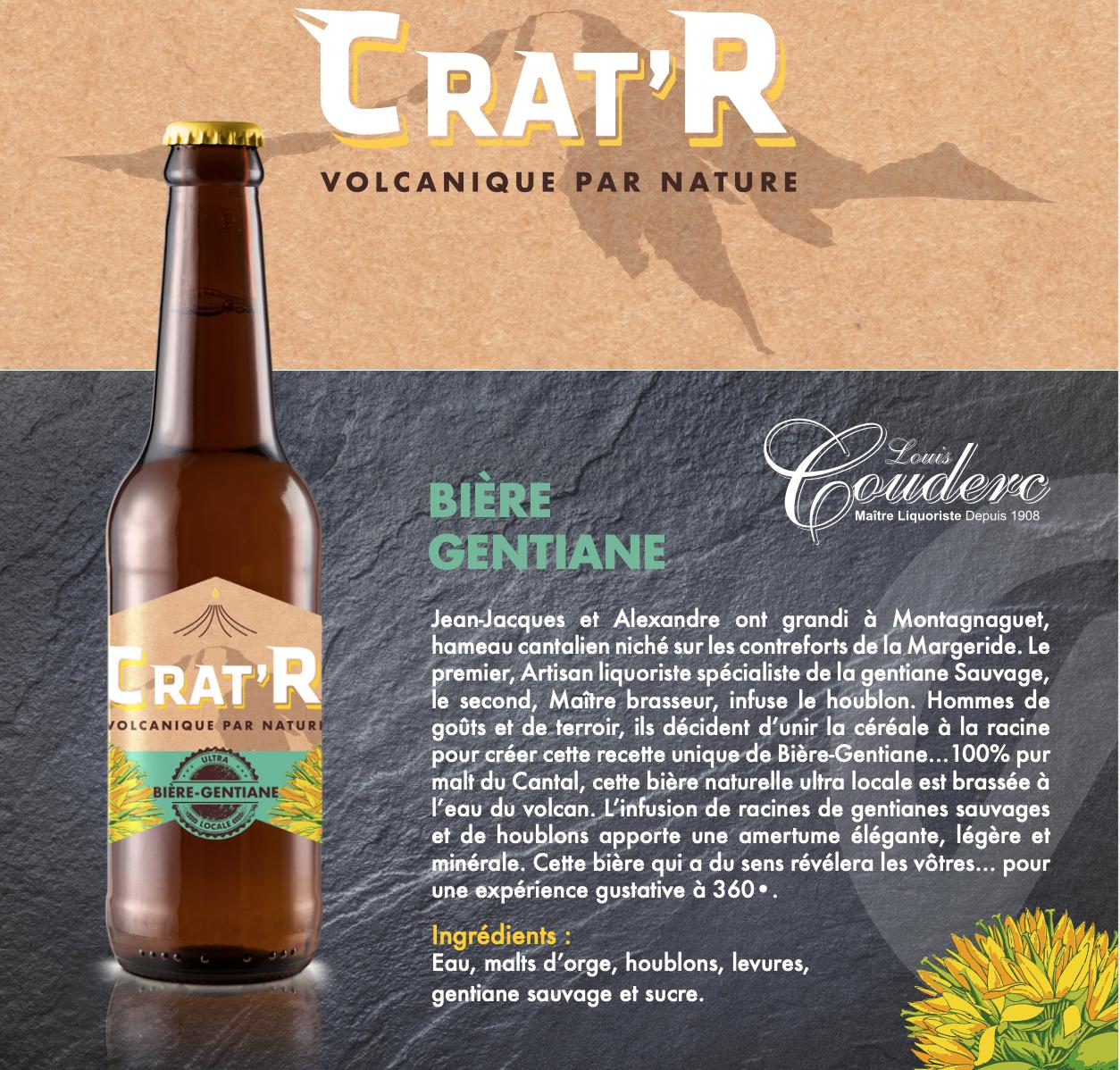 🆕 Crat'r Gentiane bio 33cl 1
